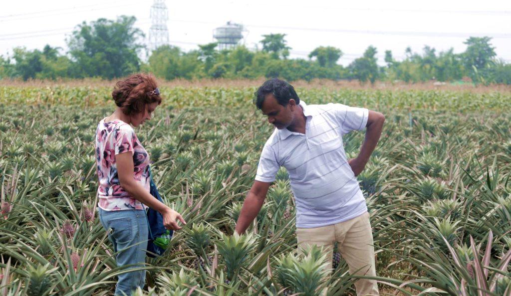 Ujjainee with farmer anwar