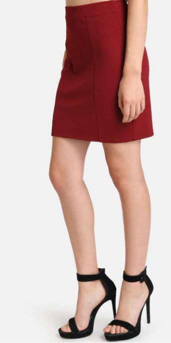 Red Pecinl Skirt