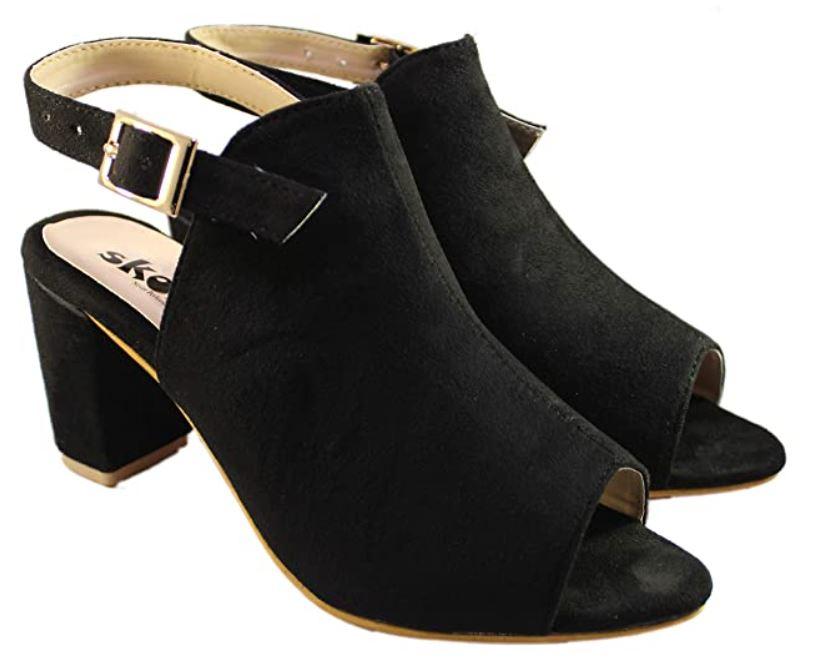 black peep toe
