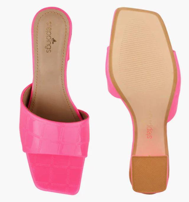 pink peep toe
